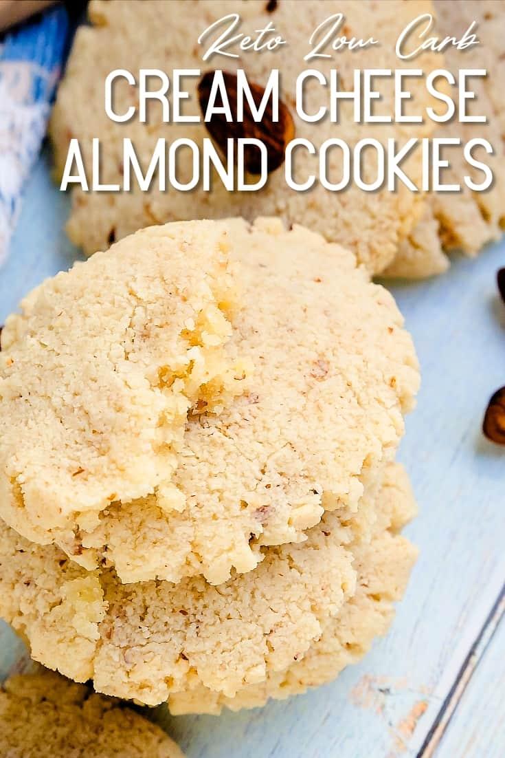 Keto Cream Cheese Almond Cookies