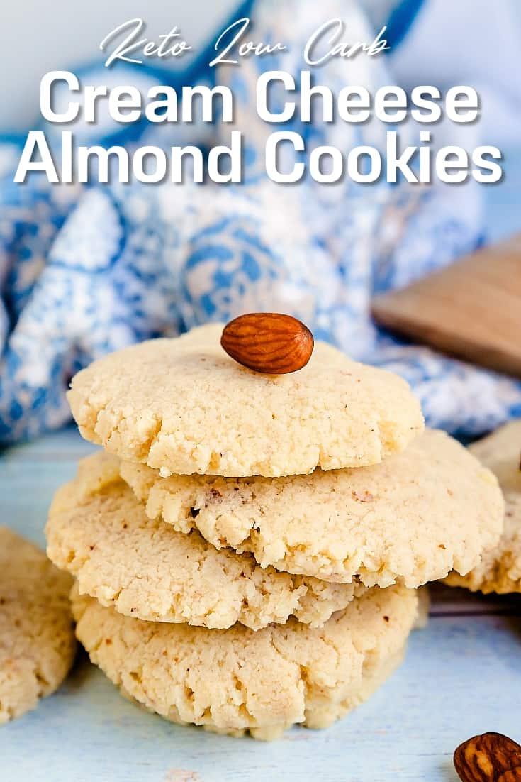Keto Cream Cheese Almond Cookies LowCarbingAsian Pin 2