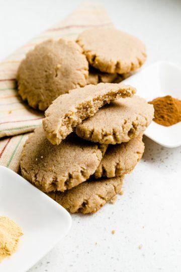 Keto Cream Cheese Ginger Cinnamon Cookies LowCarbingAsian Cover