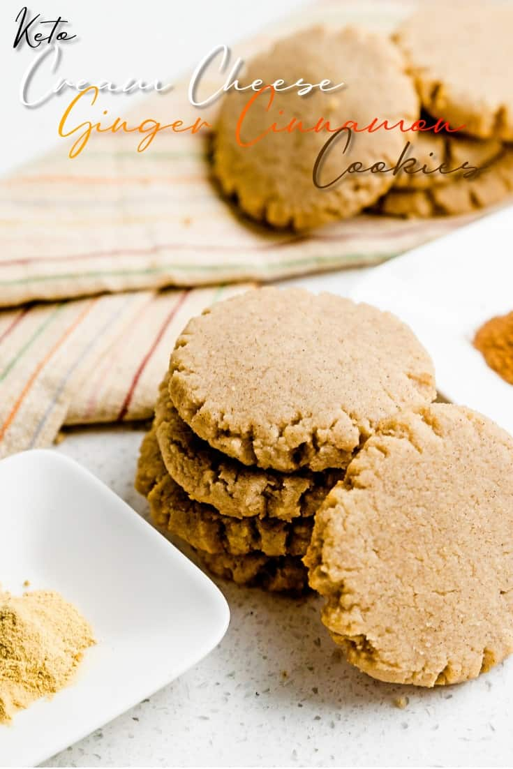 Keto Cream Cheese Ginger Cinnamon Cookies LowCarbingAsian Pin 2
