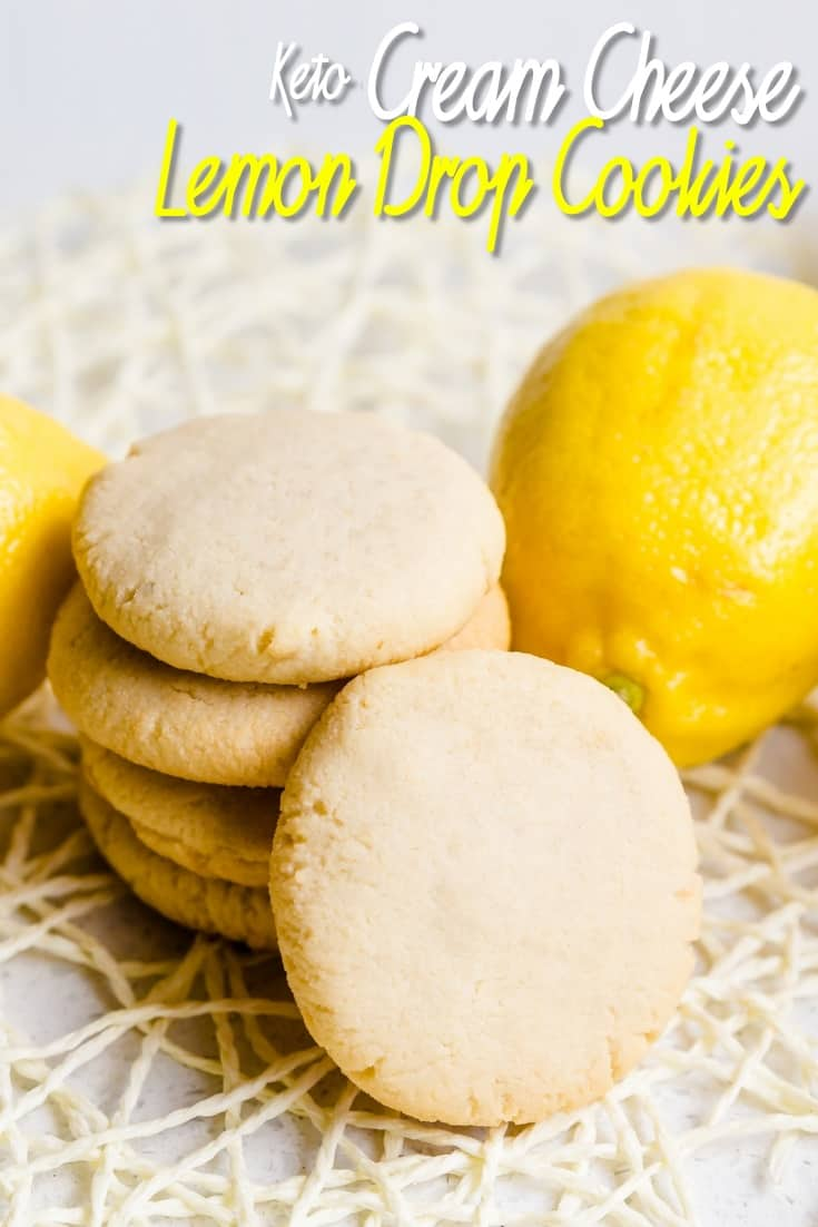 Keto Cream Cheese Lemon Drop Cookies LowCarbingAsian Pin 1