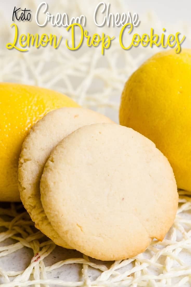 Keto Cream Cheese Lemon Drop Cookies LowCarbingAsian Pin 2
