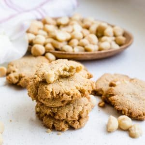Keto Cream Cheese Vanilla Macadamia Nut Cookies LowCarbingAsian Cover