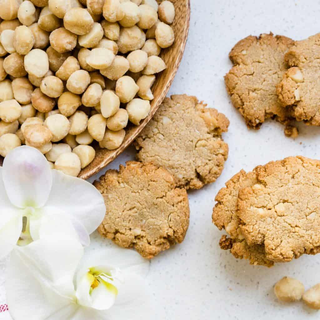 Keto Cream Cheese Vanilla Macadamia Nut Cookies LowCarbingAsian Pic