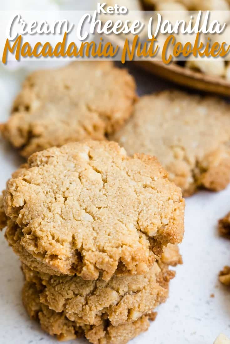 Keto Cream Cheese Vanilla Macadamia Nut Cookies LowCarbingAsian Pin 0