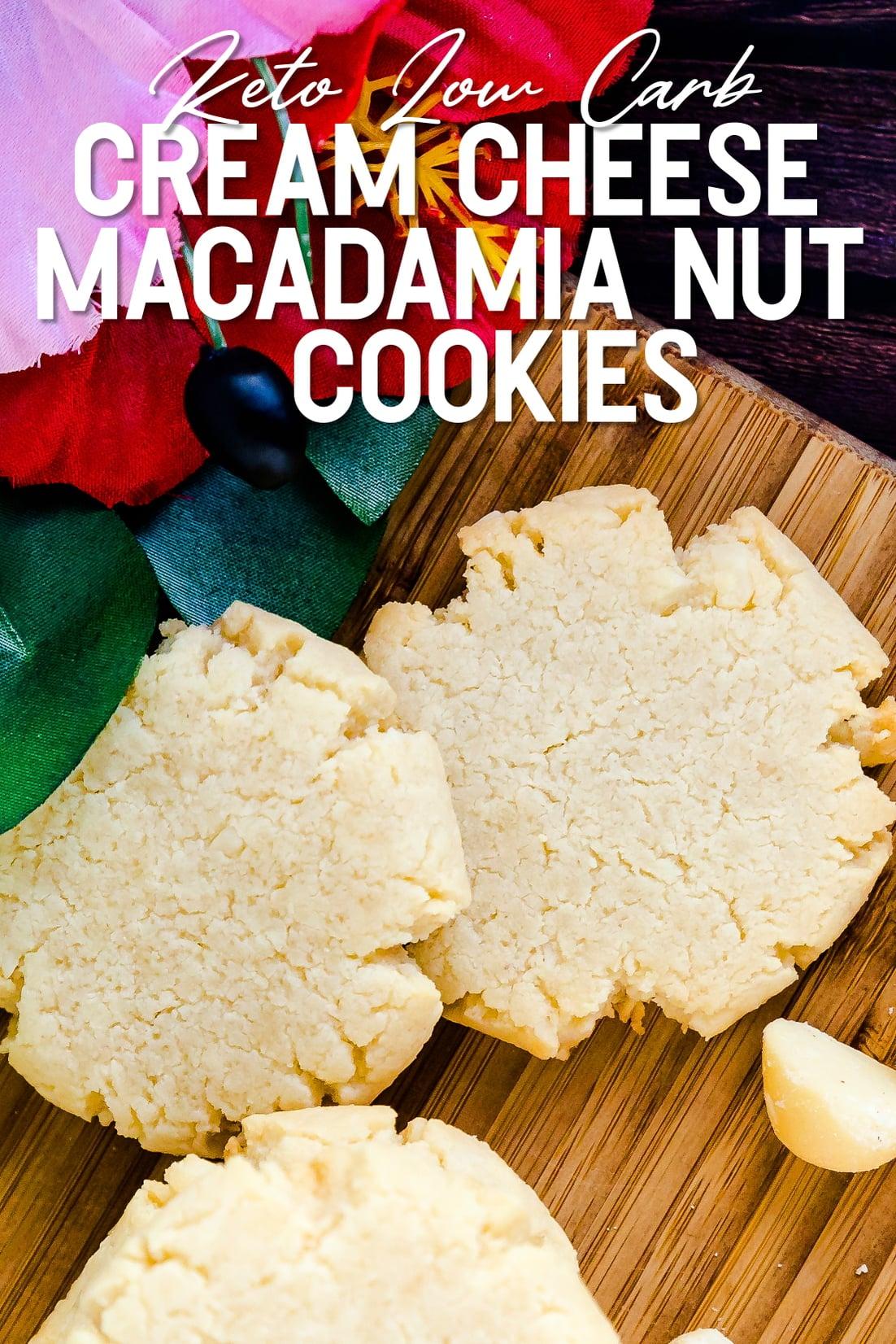 Cream Cheese Vanilla Macadamia Nut Cookies Top Down Shot