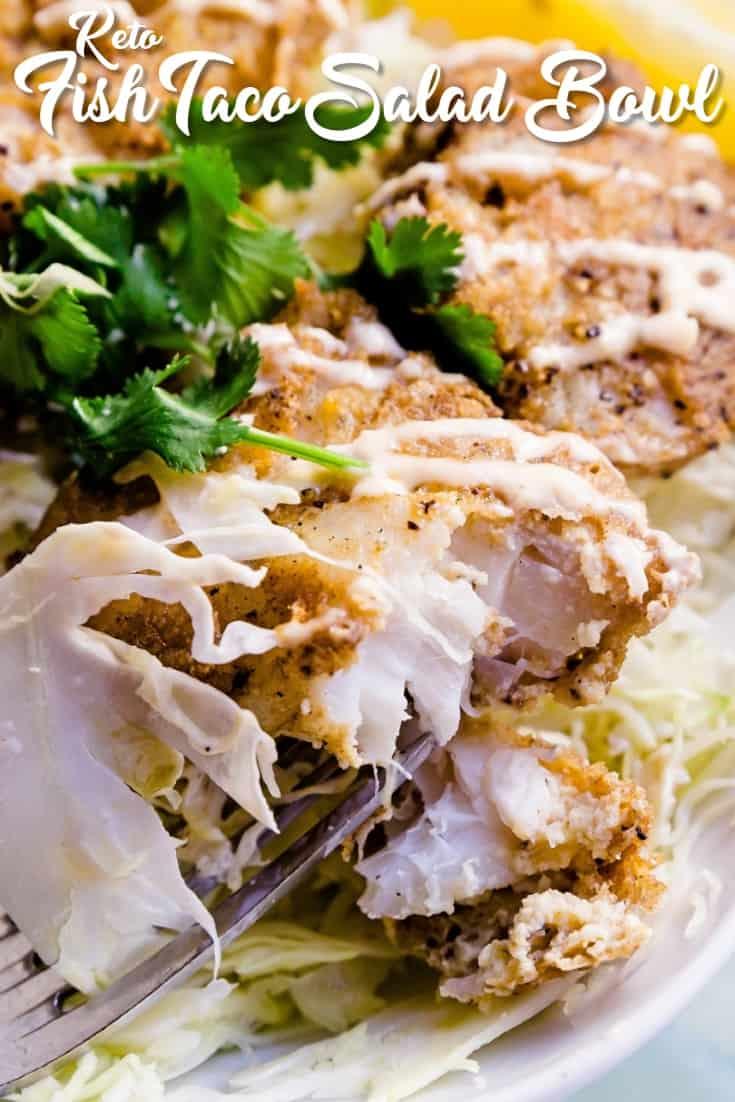 Keto Fish Taco Salad LowCarbingAsian Pin 3