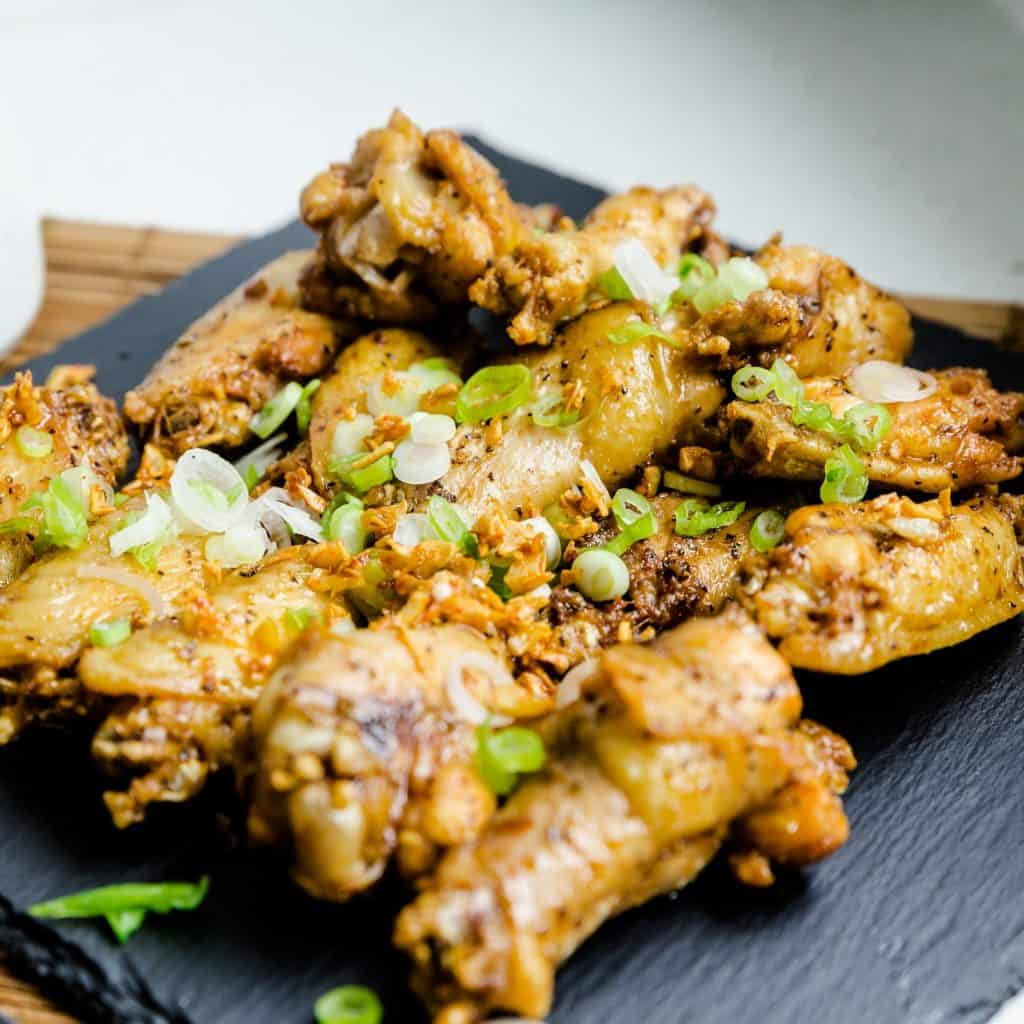 Keto Fried Japanese Garlic Chicken Wings Tebaksaki Age LowCarbingAsian Pic