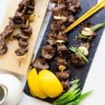 Keto Japanese Beef Skewers Kushiyaki LowCarbingAsian Cover