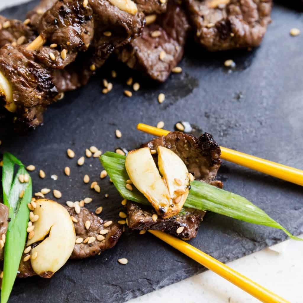 Keto Japanese Beef Skewers Kushiyaki LowCarbingAsian Pic