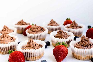 Keto Mini Chocolate Cheesecakes
