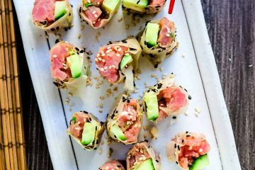 Keto Spicy Tuna Rolls