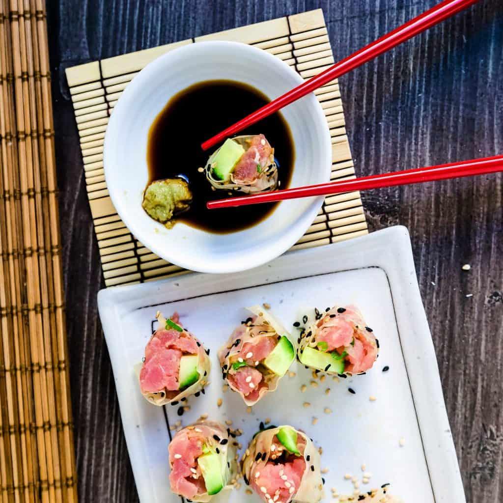 Keto Spicy Tuna Rolls LowCarbingAsian Pic 2