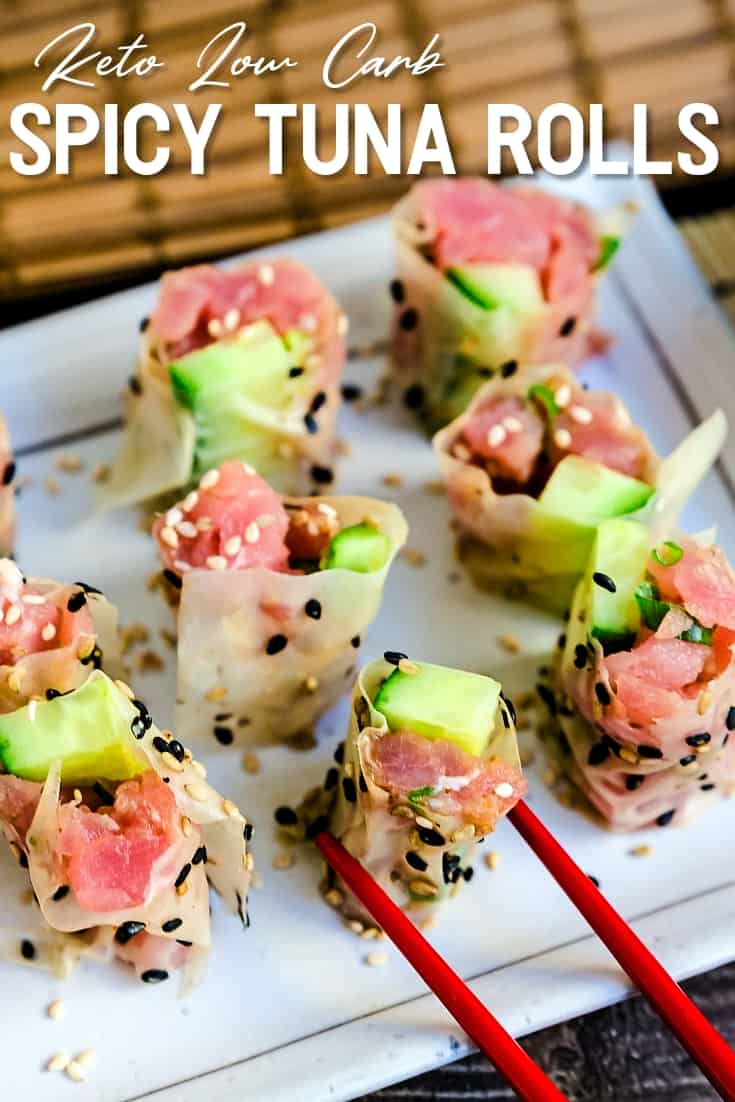 Keto Low Carb Spicy Tuna Rolls
