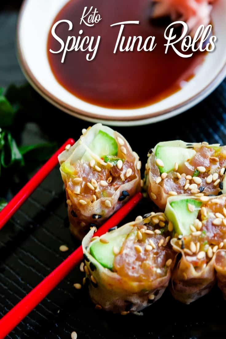 Keto Spicy Tuna Rolls Pin 2