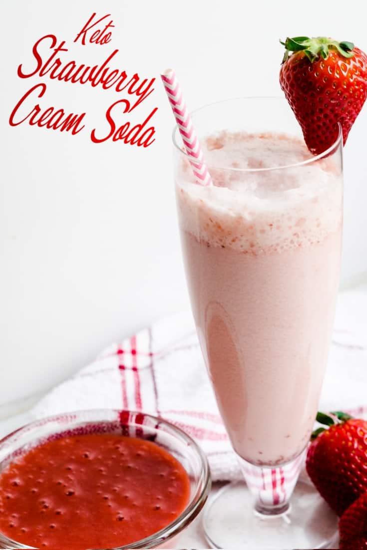 Keto Stawberry Cream Soda LowCarbingAsian Pin 2