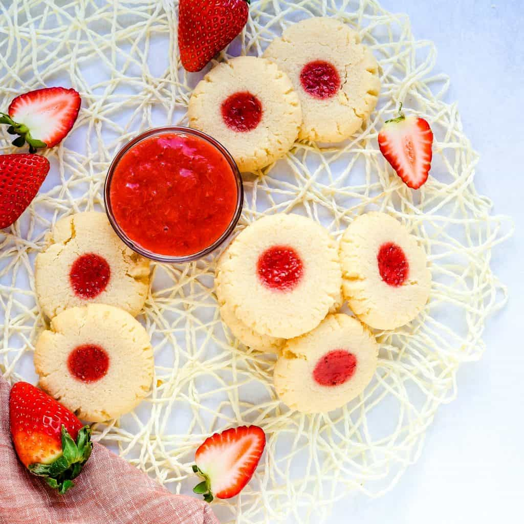 Keto Strawberry Cream Cheese Cookies LowCarbingAsian Pic 1