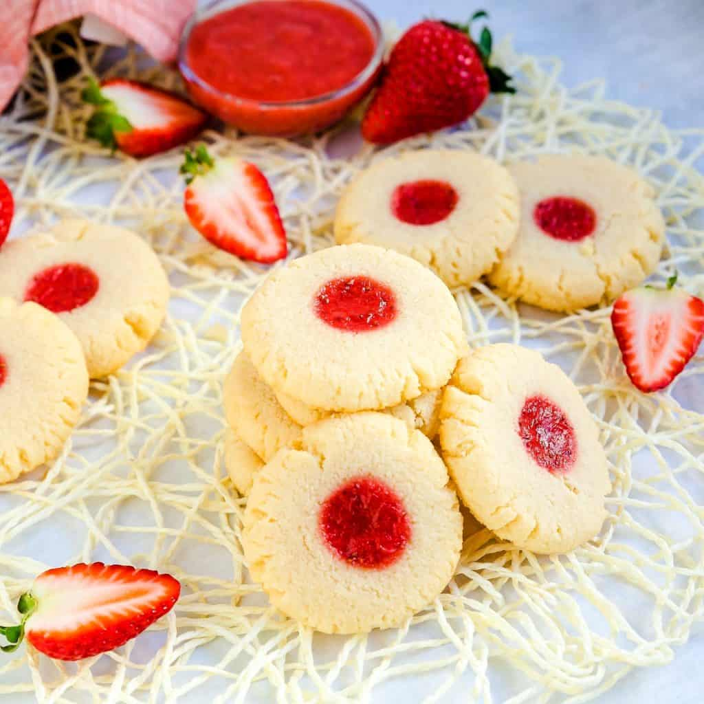 Keto Strawberry Cream Cheese Cookies LowCarbingAsian Pic 2
