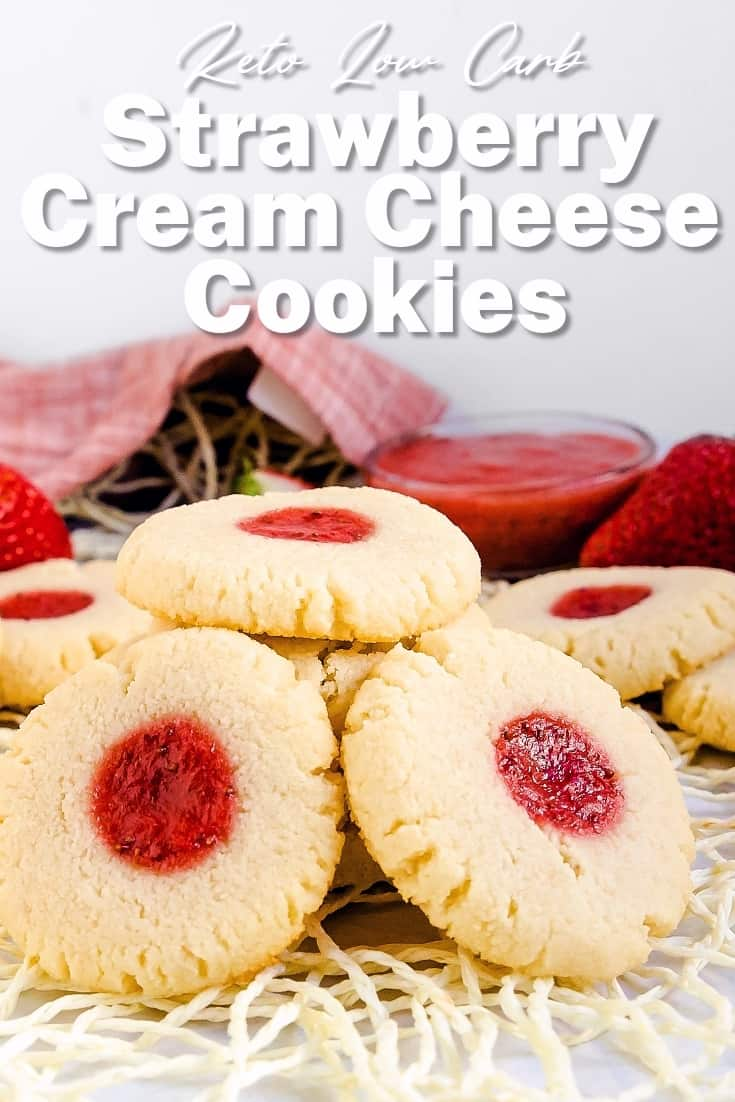 Keto Strawberry Cream Cheese Cookies LowCarbingAsian Pin 1