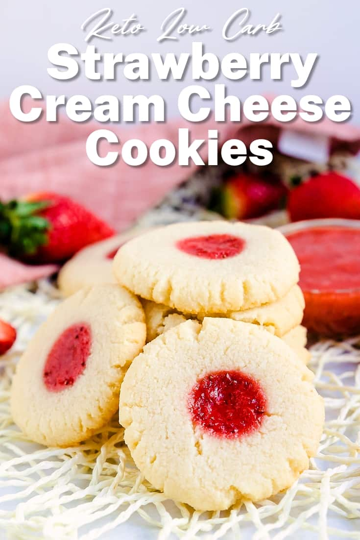 Keto Strawberry Cream Cheese Cookies LowCarbingAsian Pin 2