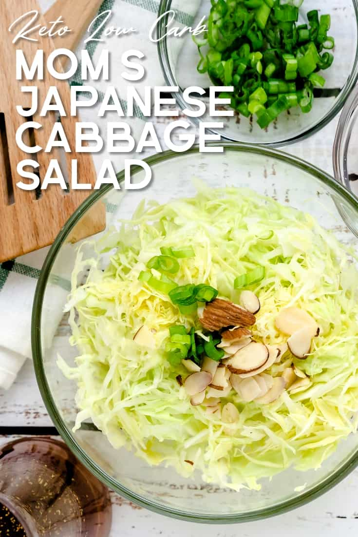 Mom's Japanese Cabbage Salad LowCarbingAsian Pin 2