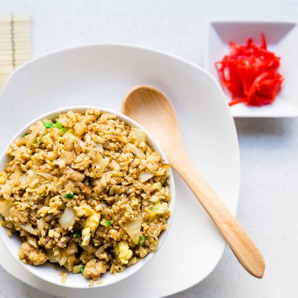 Top Asian Chicken Recipes - Garlic Chicken Fried Rice