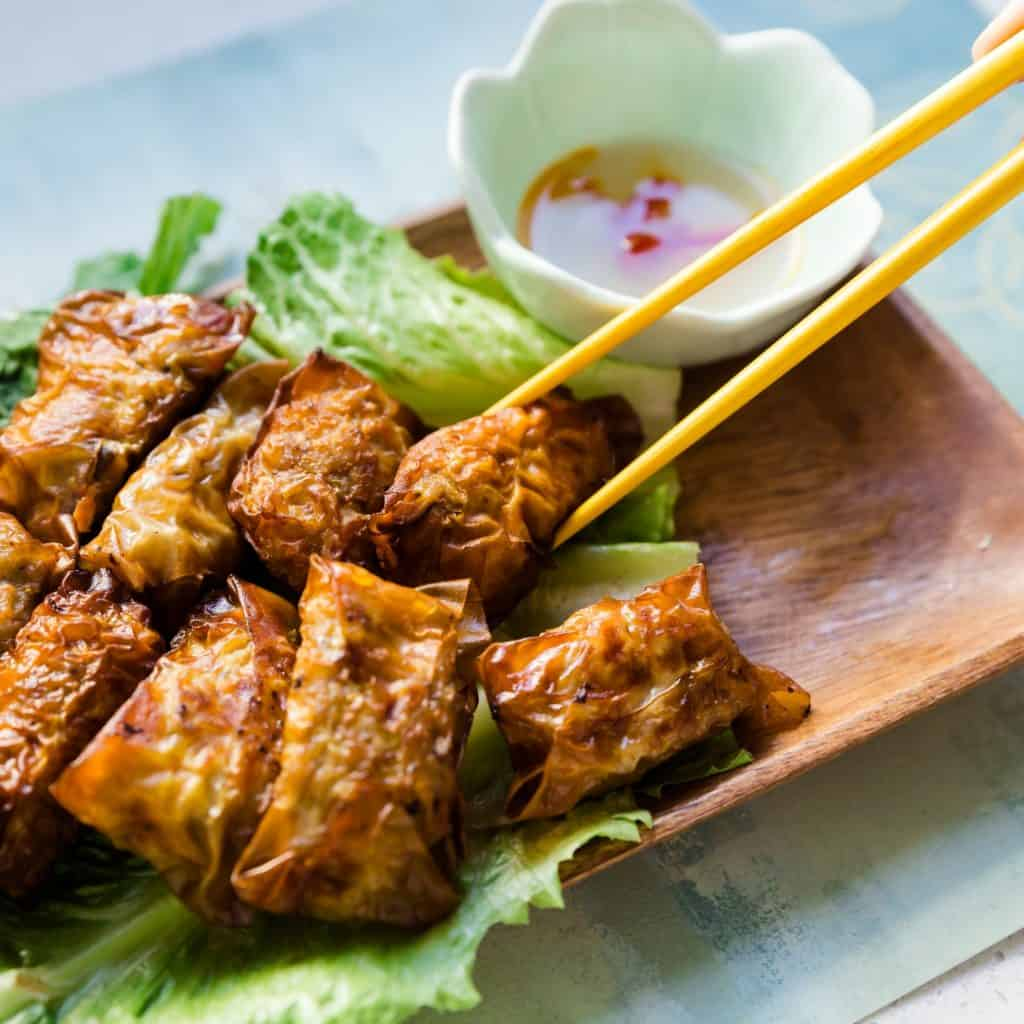 Top Asian pork recipes - Vietnamese Inspired Bite Size Egg Rolls