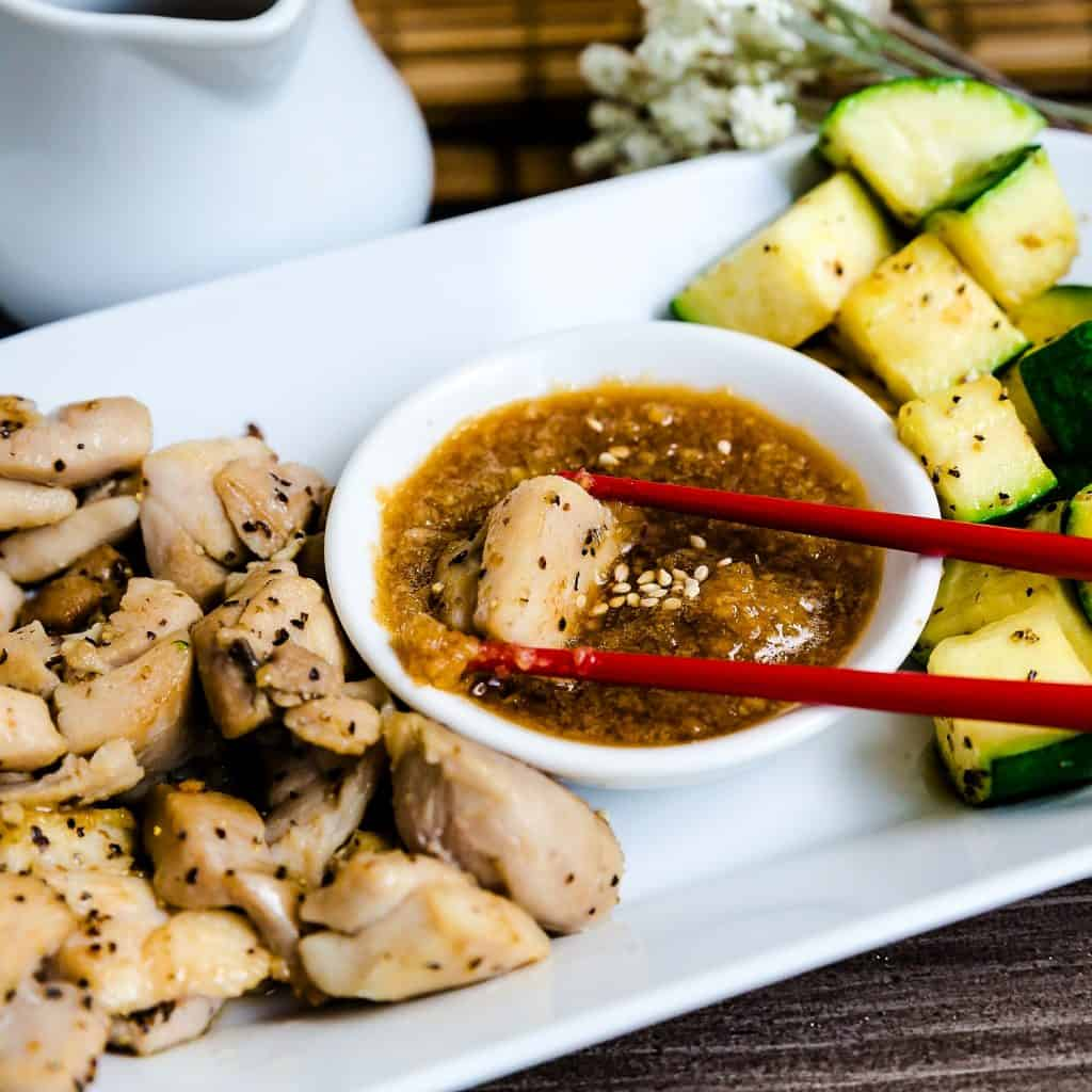 Benihana Style Hibachi Seared Chicken LowCarbingAsian Pic 1