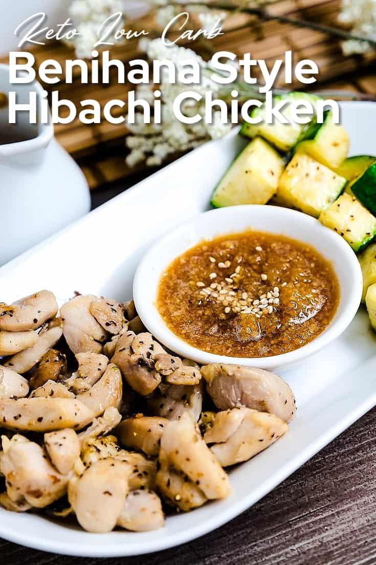 Benihana Style Hibachi Seared Chicken LowCarbingAsian Pin 2