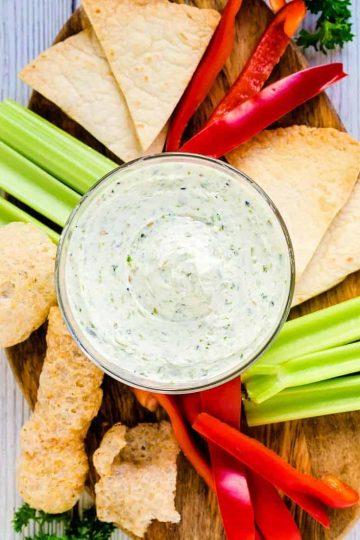 Cream Cheese Garlic Dip wFurikake LowCarbingAsian Cover