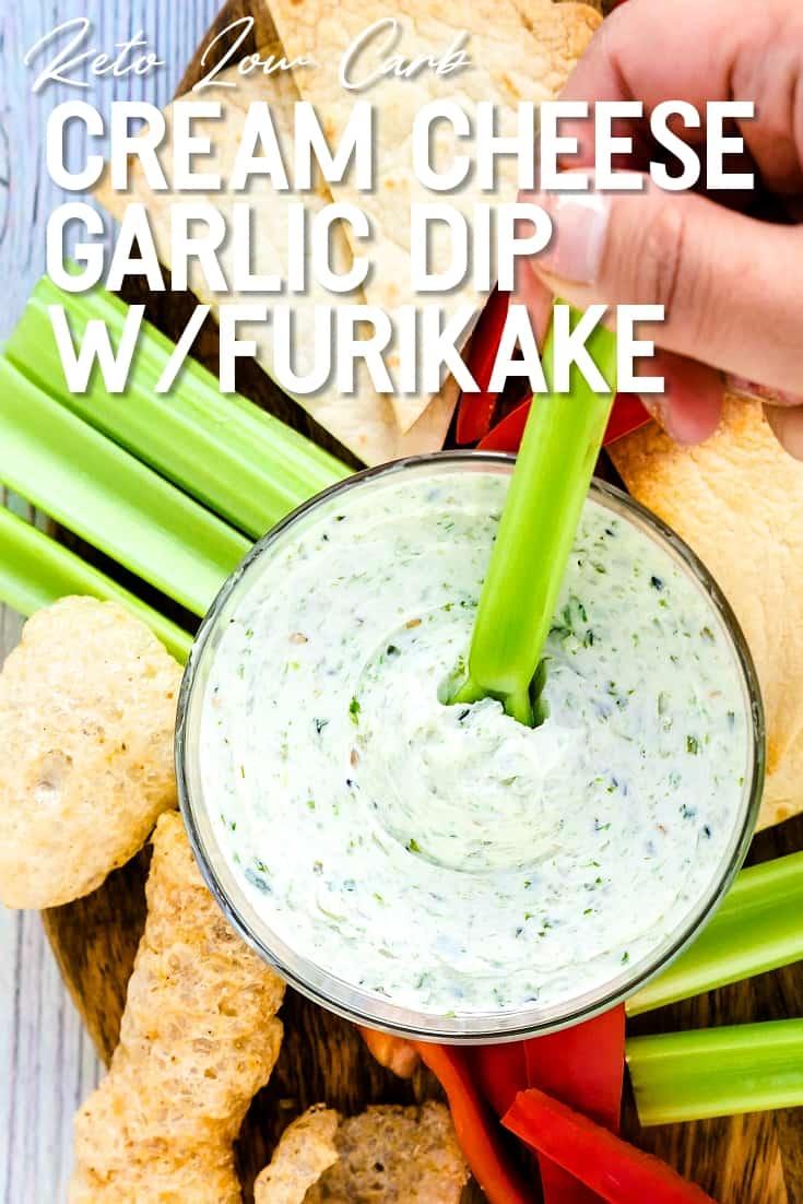 Cream Cheese Garlic Dip with Furikake