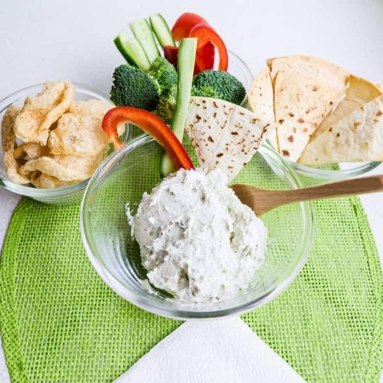 Cream Cheese Garlic Dip with Furikake LowCarbingAsian Cover
