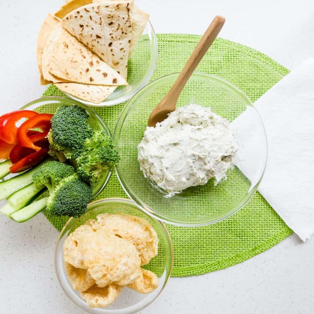 Cream Cheese Garlic Dip with Furikake LowCarbingAsian Pic