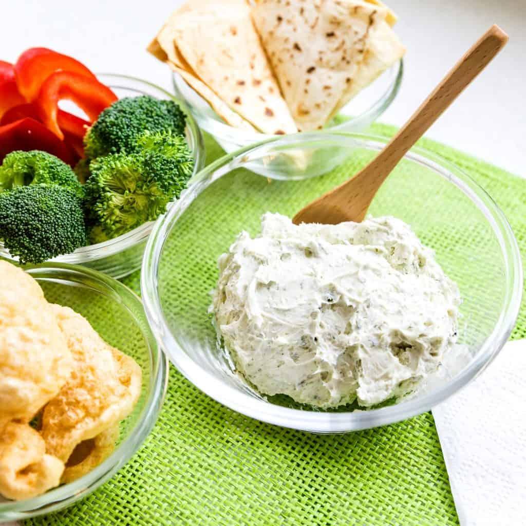 Cream Cheese Garlic Dip with Furikake LowCarbingAsian Pic 2