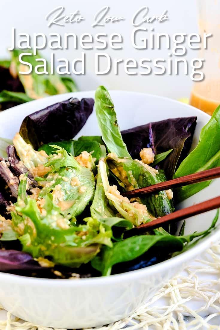 Japanese Ginger Salad Dressing LowCarbingAsian Pin 1