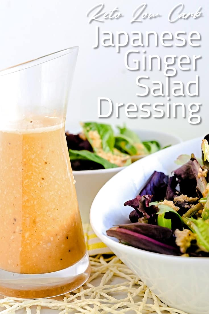 Japanese Ginger Salad Dressing LowCarbingAsian Pin 2