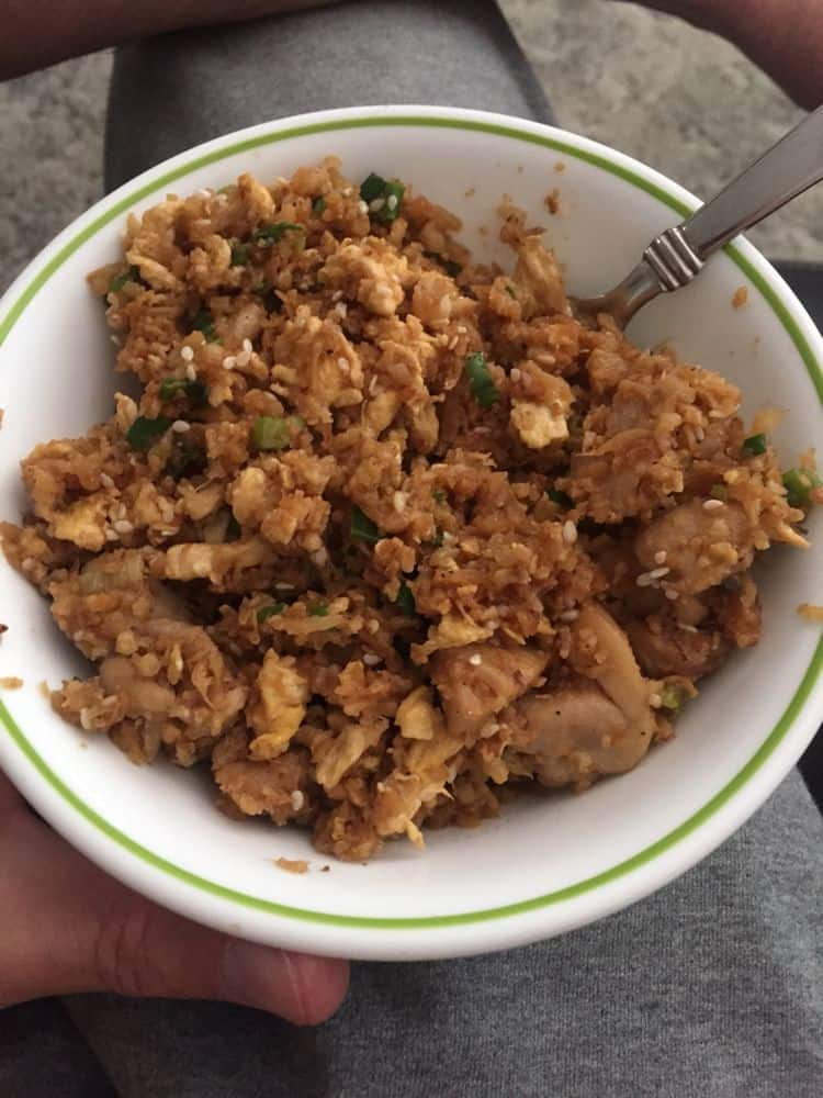 Garlic Chicken Cauliflower Rice