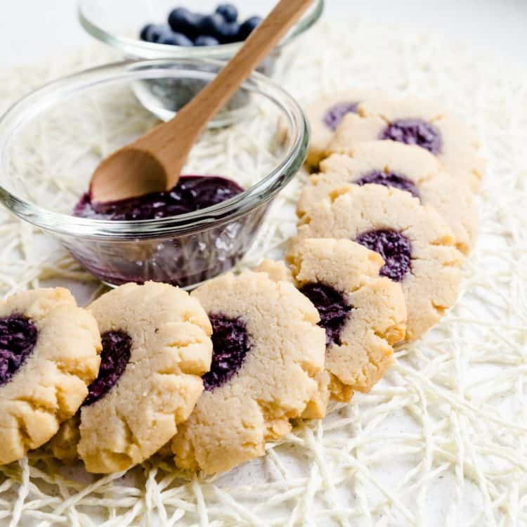 Keto Cream Cheese Blueberry Cookies LowCarbingAsian Cover