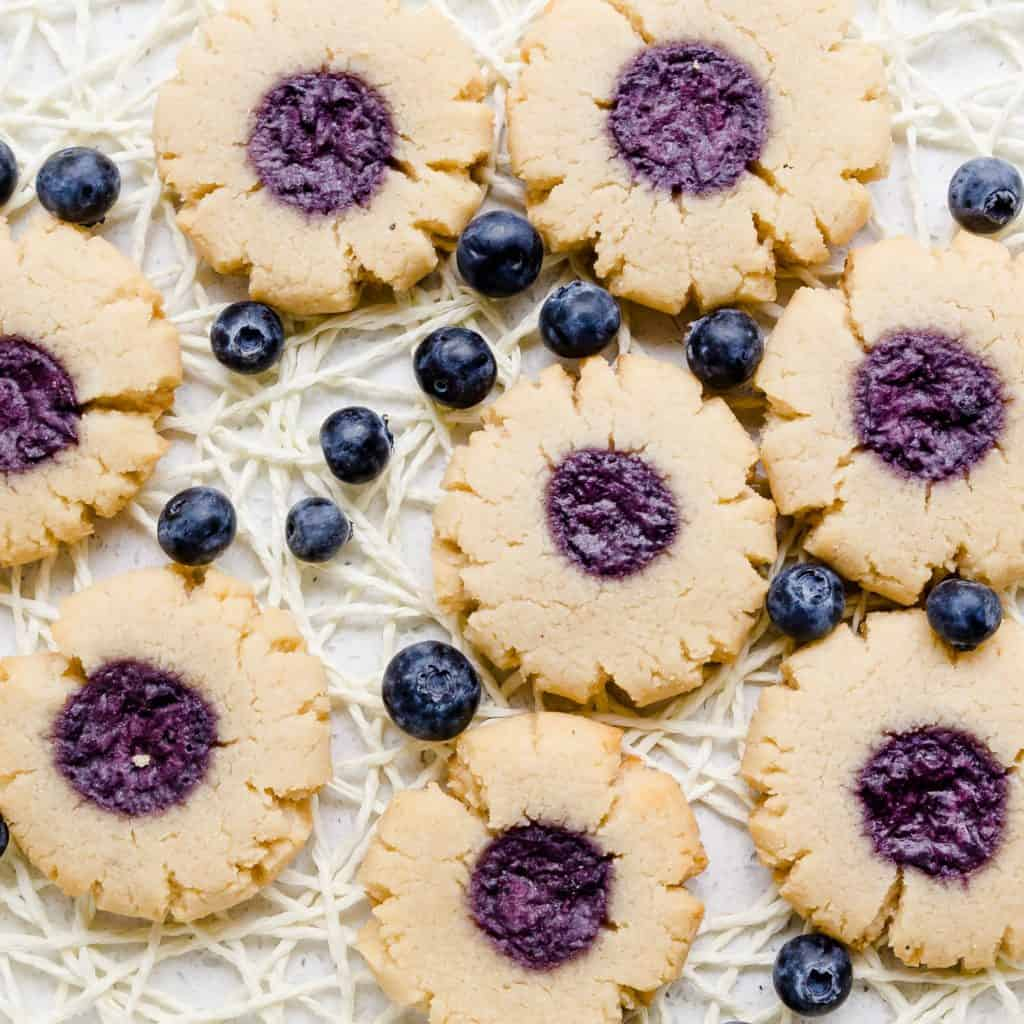 Keto Cream Cheese Blueberry Cookies LowCarbingAsian PIc