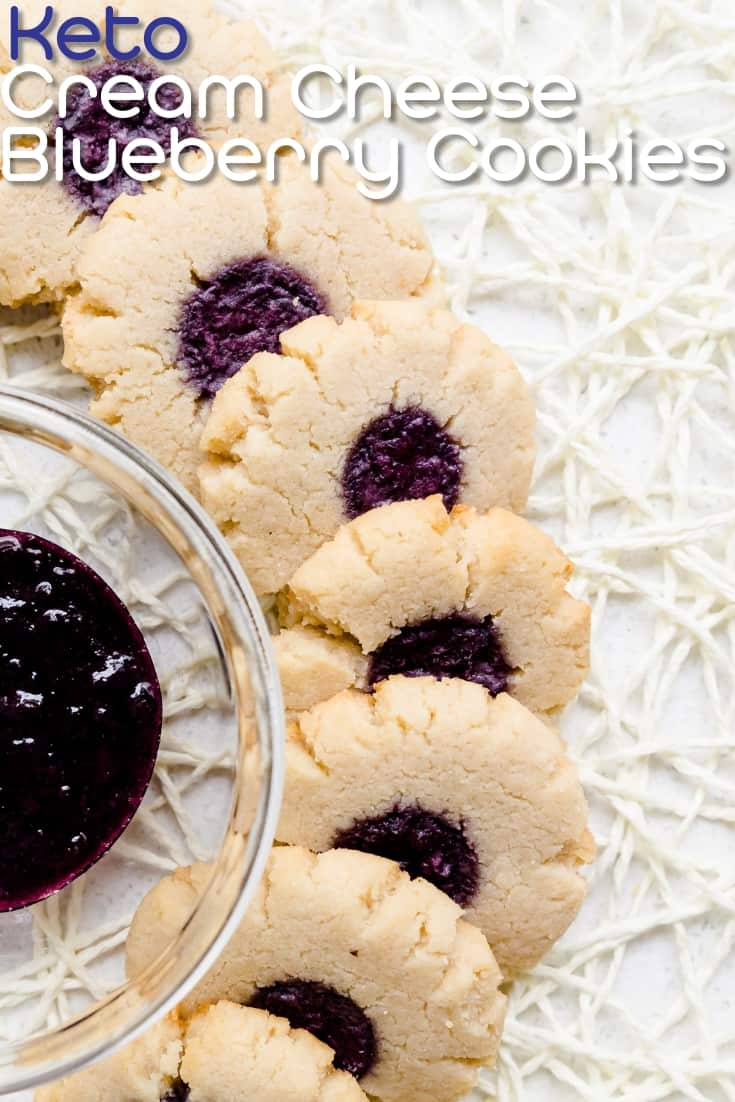 Keto Cream Cheese Blueberry Cookies LowCarbingAsian Pin 1