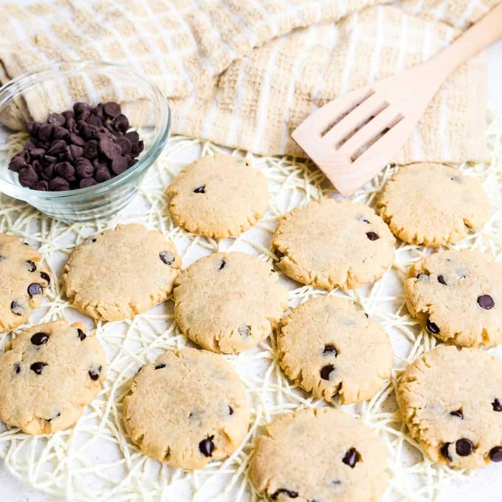 Keto Cream Cheese Chocolate Chip Cookies LowCarbingAsian Pic