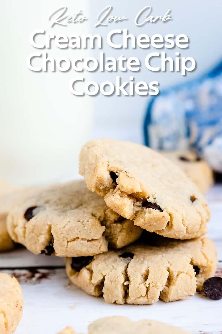 Keto Low Carb Cream Cheese Chocolate Chip Cookies