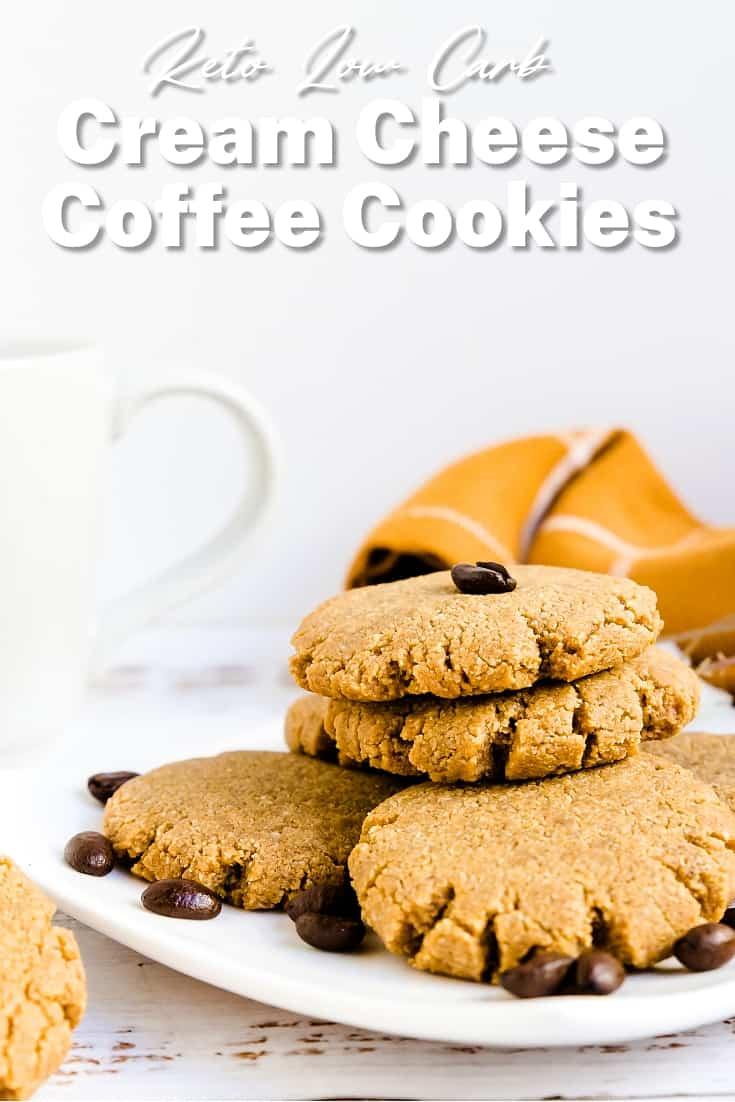 Keto Cream Cheese Coffee Cookies LowCarbingAsian Pin 1