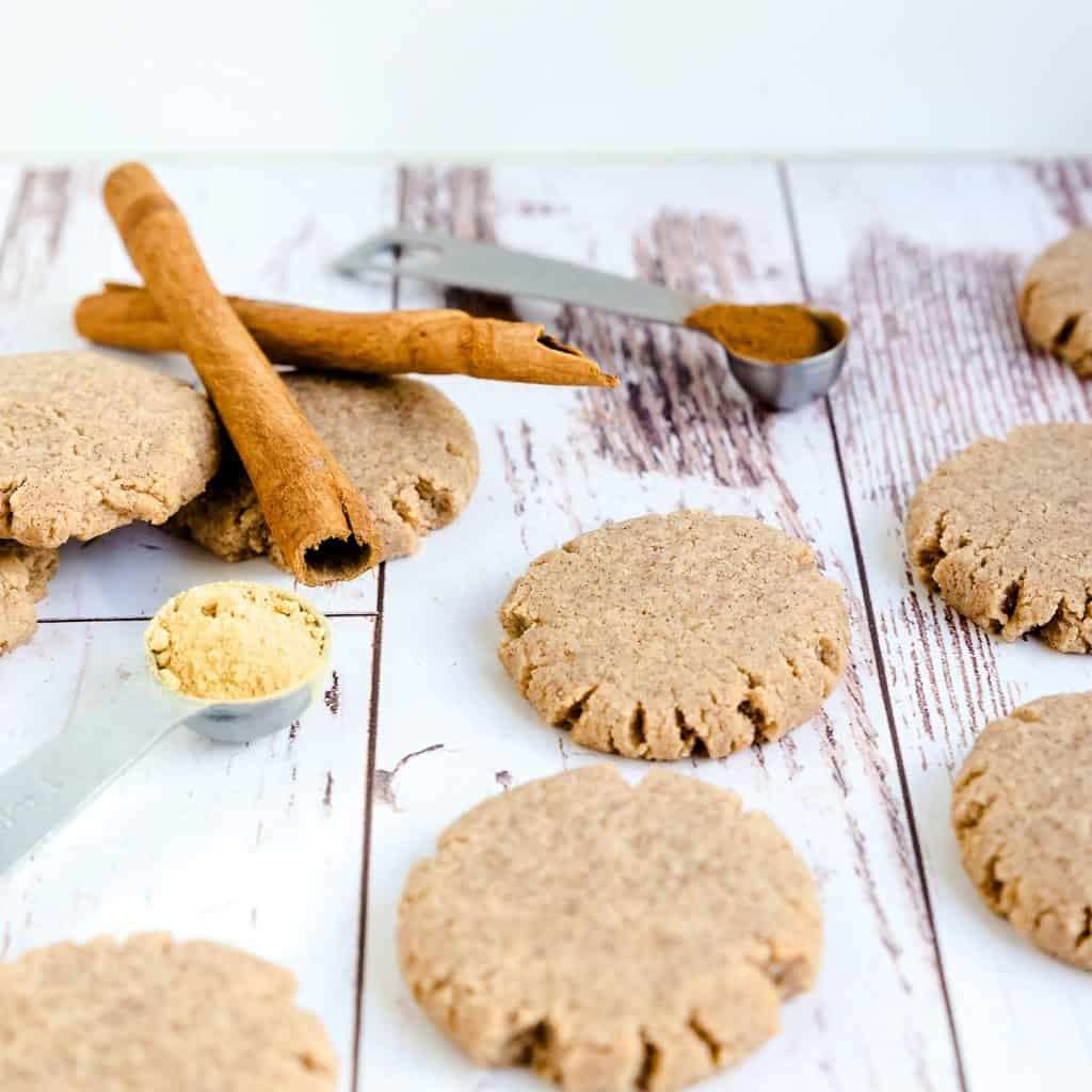 Keto Cream Cheese Ginger Cinnamon Cookies LowCarbingAsian Pic 1
