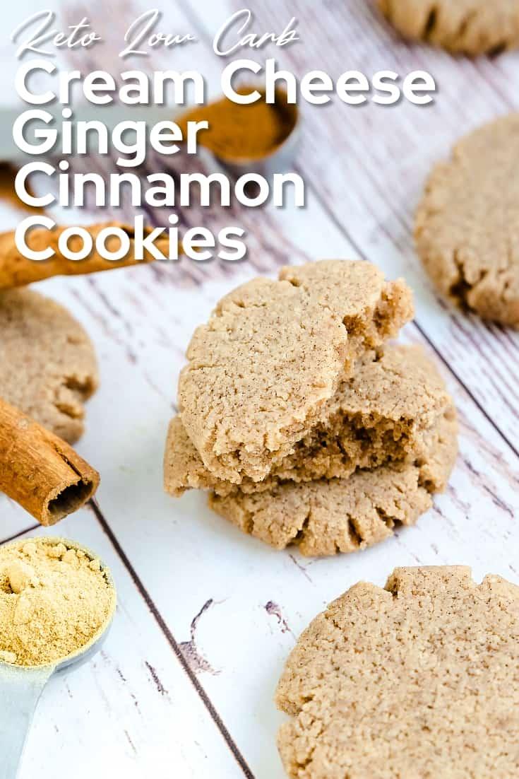 Keto Cream Cheese Ginger Cinnamon Cookies LowCarbingAsian Pin 2