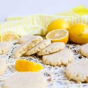 Keto Cream Cheese Lemon Drop Cookies LowCarbingAsian Cover