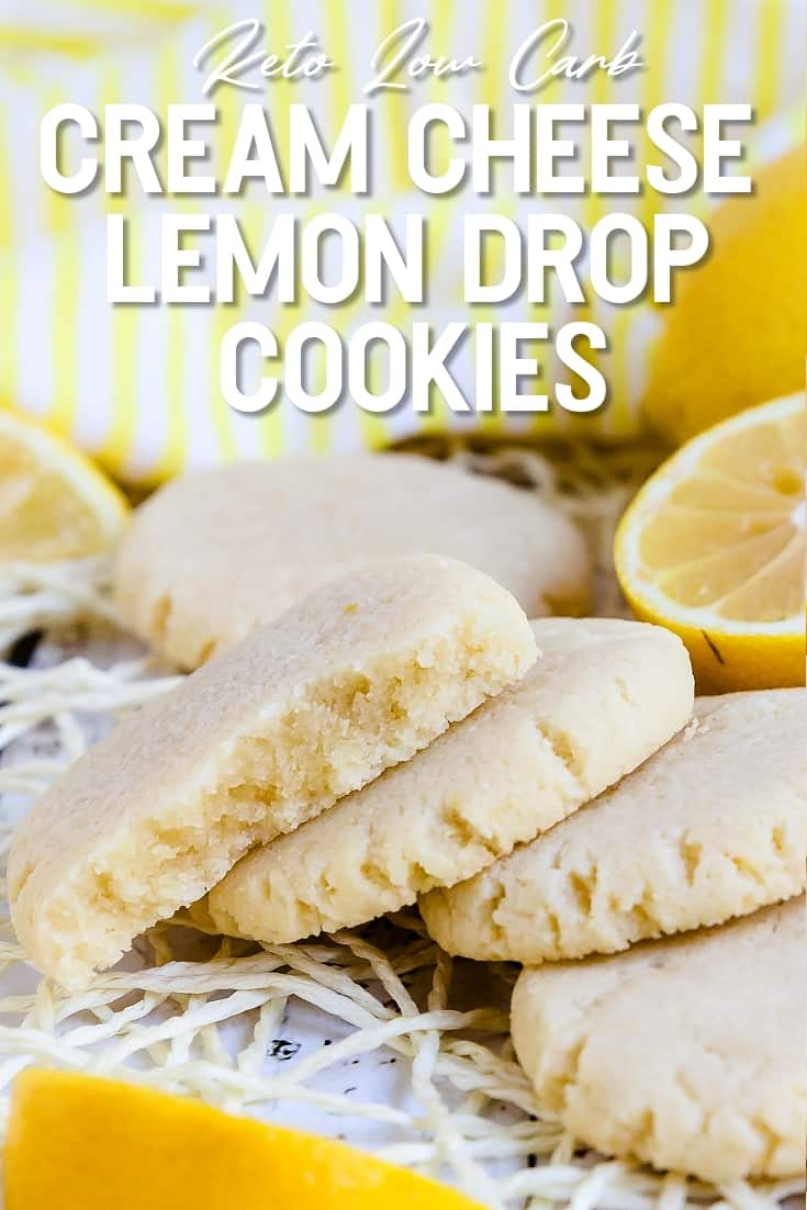 Keto Low Carb Cream Cheese Lemon Drop Cookies