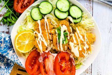 Keto Fish Taco Salad Bowl