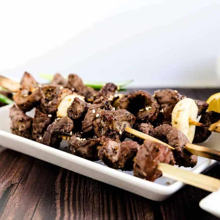 Keto Japanese Beef Skewers - Kushiyaki LowCarbingAsian Cover