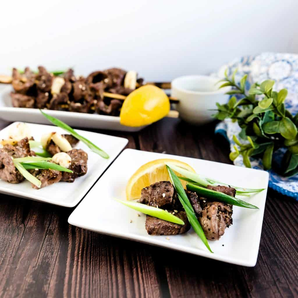 Keto Japanese Beef Skewers - Kushiyaki LowCarbingAsian Pic 1
